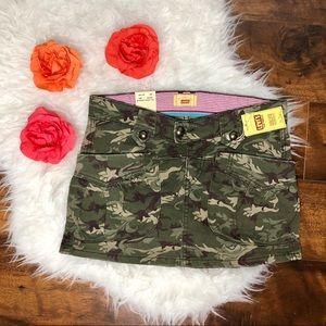 Levi's Camo Print Mini Skirt.